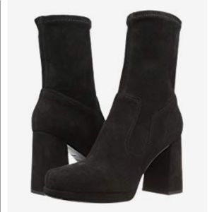 Marc Jacobs Ross Suede Pull On Platform Ankle Boot
